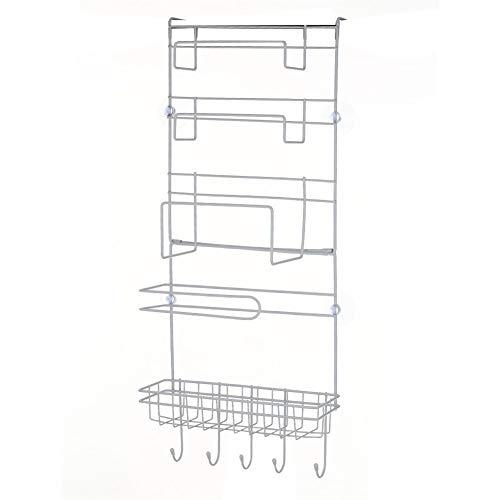 S-8008 Frigorifero Rack Frigorifero Side Shelf Multistrato Laterale Holder Multifunzionale Cucina Forniture Organizzatore della Famiglia Hanging Gancio piegante Frigo Bagagli Mobile Salvaspazio