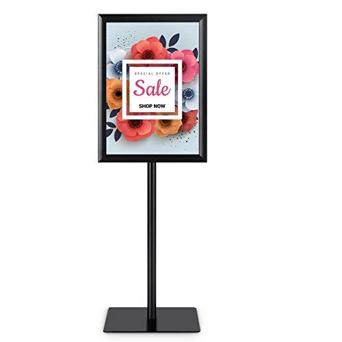 COSTWAY Infoständer Informationsständer Plakatständer Kundenstopper Präsentationsständer Plakat Aufsteller Ständer Werbeständer A3 höhenverstellbar drehbar schwenkbar (schwarz)