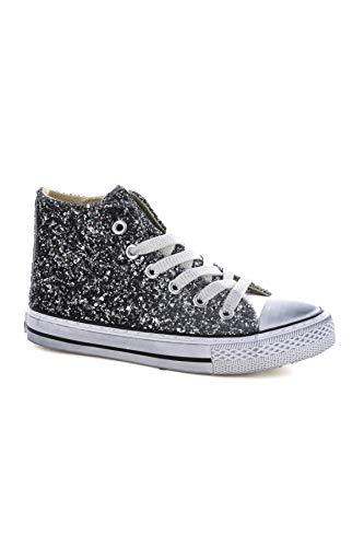 Asso Scarpe Kids Sneakers Tessuto Glitterato Argento 59951 Silver