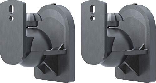 goobay 49393 Soporte de Pared para Altavoces Universal, Giratorio/inclinable para Altavoces de hasta 3,5 kg, Negro