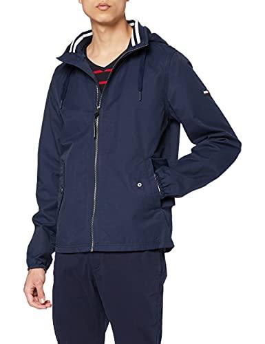 Tommy Hilfiger TJM Essential Hooded Jacket Chaqueta, Azul (Black Iris 002), S para Hombre