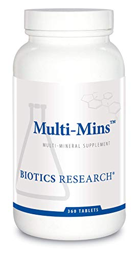 Biotics Research Multi Mins Multi Mineral Complex, Full Spectrum Mineral Complex, Balanced Source of Mineral Chelates and Whole Food, Phytochemically Bound Trace Minerals, Easily Absorbed. 360 Tabs