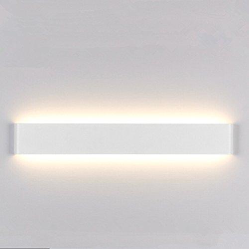 ledmomo 24 cm mur de 6 W Lumière DIY Stick en toute lampe de lumière de nuit LED En aluminium brillant (Blanc chaud)