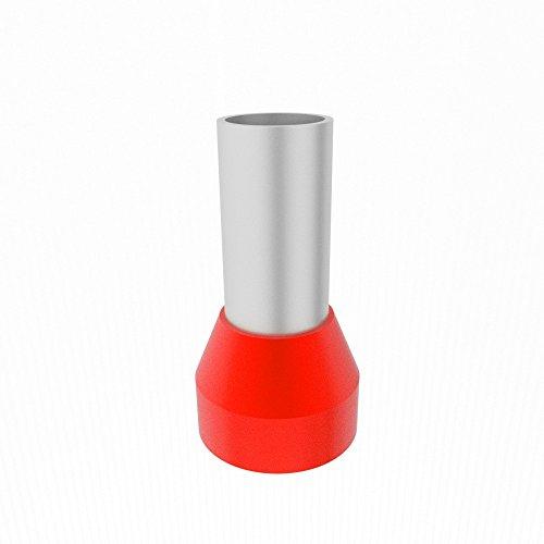 100 Stück E 10/12 Aderendhülsen isoliert rot 10mm2/12mm E10-12 Elpromet 0286