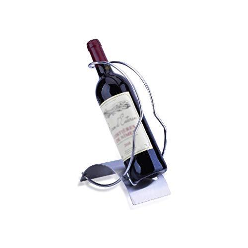 NXYJD Iron & Wine Rack-Creativo Estante del Vino del Estante del Vino Europeo portátil con Hierro Libre Que coloca el sostenedor