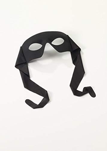 Forum Novelties Venetian Mardi Gras Burglar Halloween Half Eye Mask - Black