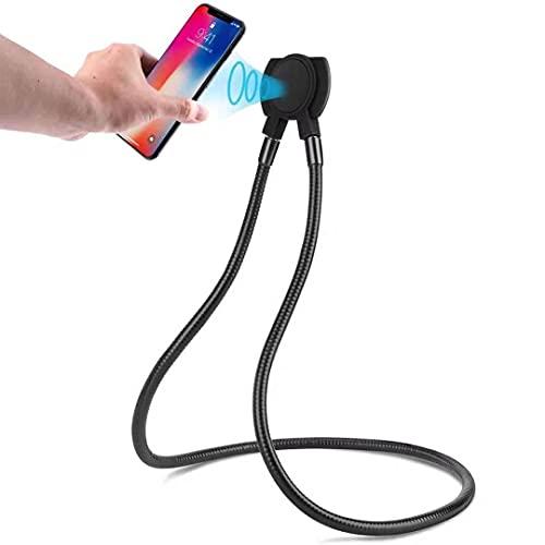 Soporte flexible magnético universal para teléfono móvil, tableta que se cuelga sobre el bastidor, flexible y giratorio para múltiples funciones.