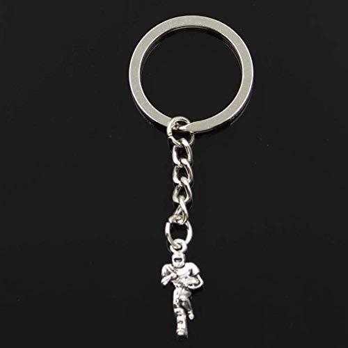 BMGFEW Schlüsselanhänger Exquisite Mode Fußballspieler 22X13Mm Anhänger 30Mm Schlüsselringkette Silber Herrenauto Geschenk Souvenir Schlüsselbund