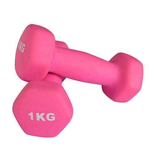 FFDL Neopren Hanteln Wasserdicht Hanteln 1.5kg, Fitnessstudio, Bodybuilding, Training Rosa(Sold in Pairs)