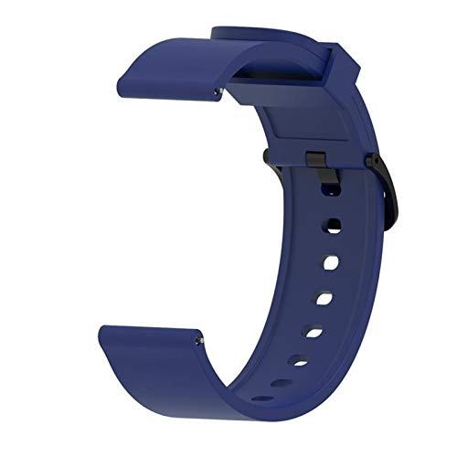 Correa de silicona original para reloj Galaxy Watch Active Smart Watch Correa de repuesto para Samsung Galaxy Watch 20 mm (Color de la correa: azul marino3, ancho de la correa: 20 mm)