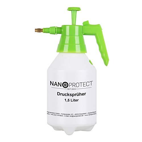 Nanoprotect Handsprüher 1,5 Liter | Drucksprüher mit Messingdüse | Pumpsprüher | Gartenspritze
