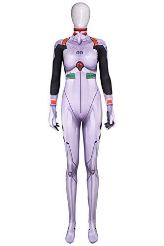 RedJade Eva NEON Genesis Ayanami Rei Uniform Jumpsuit Overall Bodysuit Outfit Cosplay Kostüm Damen XL