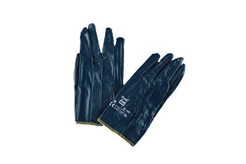 12x Ansell Hynit 32-125 Guanti in nitrile Blu Gr. 8, Dimensione:8