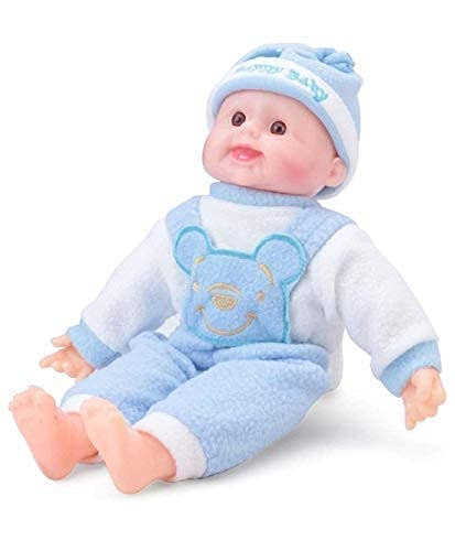 KRIDEZ Big Size Happy Baby Musical Touch Sensors and Laughing Boy Doll Indoor | Outdoor Toys for Kids Girls Boys (New Version 2020 Made in India, 35cm Length) – Multicolor (Pack of 1)