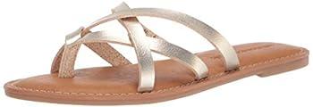 Amazon Essentials Women s Strappy Slide Flat Sandal Gold 8 B US