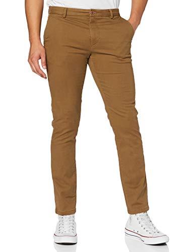 Izod Saltwater Stretch Chino Pantalones, Marrón (Havana Brown 217), W30/L32 para Hombre