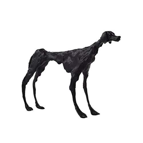 Decoración de escritorio Moldeada escultura moderna del hierro, lujo luz la decoración del hogar, moldeada Perro Negro abstracta del arte del hierro Estatua animal, utilizando for la oficina decoració