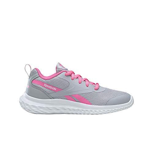 Reebok Rush Runner 3.0 Road Running Shoe, Cold Grey/Electro Pink/White, 35 EU