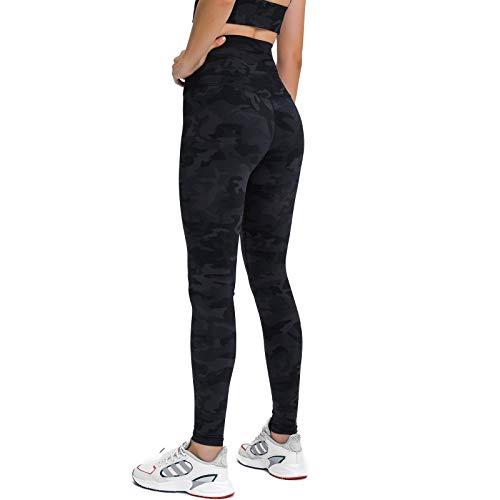 Womens High Waist Leggings - Tummy Control, Workout Running Yoga Pants Premium Jeggings Yoga Leggings (Camo, 10)