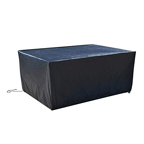 IvanBac - Cubiertas para muebles de exterior seccionales para sillas de mesa, fundas de invierno para sofá de mesa, impermeable, a prueba de viento, anti-UV, 300 x 250 x 90 cm, color negro