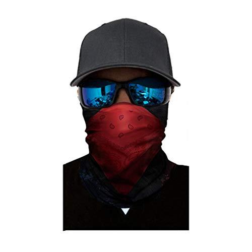 Skxinn Halstuch Face Shield Gesichtsmaske/Damen Herren Gesichtsmaske Winter Winddicht Radfahren Ski Snowboard Motorrad Balaclavas Outdoor-Sportaktivitäten Halloween Muster