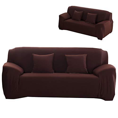 Oumefar Sala de Estar del Dormitorio de la Cubierta del sofá a Prueba de Polvo de la Alta Elasticidad(Three Persons 190-230cm)