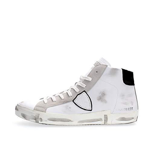 Philippe Model Sneaker Alta Paris X In Pelle Bianca