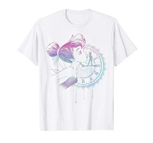 Disney Peter Pan Tinker Bell Neon Colors Clock Portrait T-Shirt