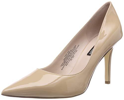 NINE WEST nwMARTINA15, Zapatos de tacón con Punta Cerrada para Mujer, Beige Barely Nude, 36 EU