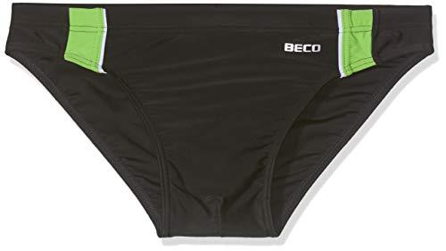 Beco Beermann GmbH & Co. KG Jungen Badehose, schwarz/Kiwi, 176