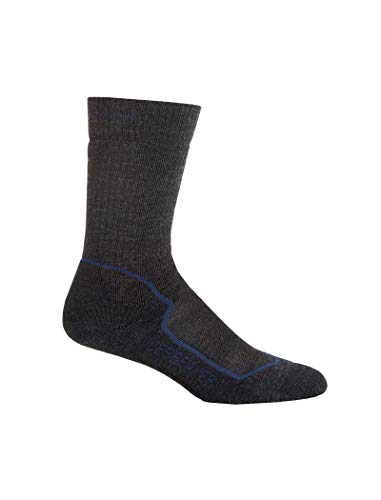 Icebreaker Herren Socken Hike Medium Crew, jet hthr/planet/black, XL, IBND09F30