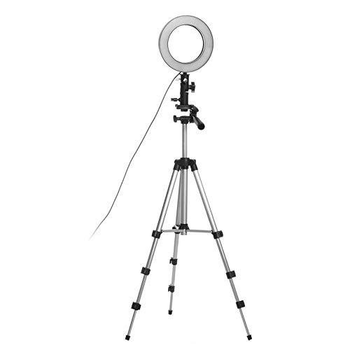 Heqianqian Selfie Anillo de luz LED anillo de luz de estudio de fotografía luz de vídeo regulable para maquillaje selfie con trípode soporte de teléfono LED anillo de luz