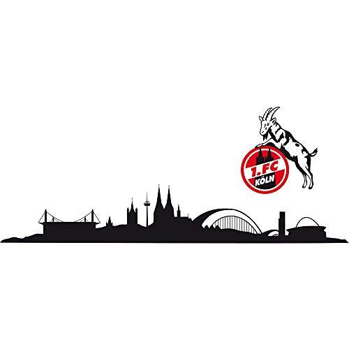 "1. FC Köln Wandtattoo ""Skyline"" dreiteilig 100x18 cm Logo ca. 23x27 cm"