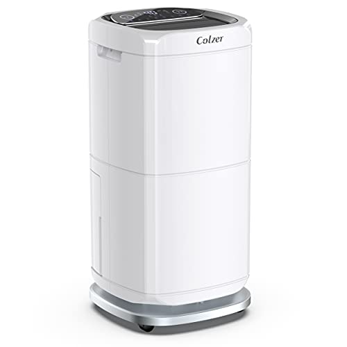 COLZER 140 Pints Commercial Dehumidifier Large Capacity Dehumidifiers for Basements, Showrooms, Gallery, Storage Rooms, Warehouse, Build-in 17-Pint Water Tank and 6.6 ft. Drain Hose
