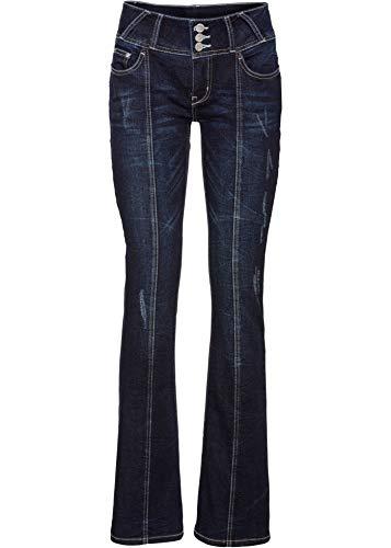 bonprix Stylishe Jeans mit Used-Details Dark Denim 42 für Damen
