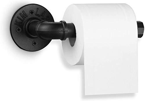 MIHOO Toilettenpapierhalter aus Industrie-Rohr, Klassisch Klopapierhalter WC-Ersatzpapierrollenhalter