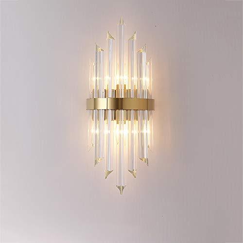 MZStech E14 Moderne Wandleuchten im minimalistischen Stil Beleuchtung, Kreativität Kristallwandleuchte, Flur Wandleuchten, Schlafzimmer Nachttisch Wandleuchten (B, Gold)