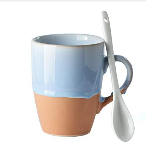 Taza de cerámica de la taza de agua Taza de café simple del color de la pendiente casera D