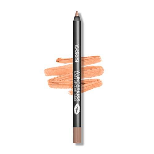 Wunder2 Lips Liner Gloss pour Lèvres, Brillance Longue Tenue, Teinte Nude, 1 Unité
