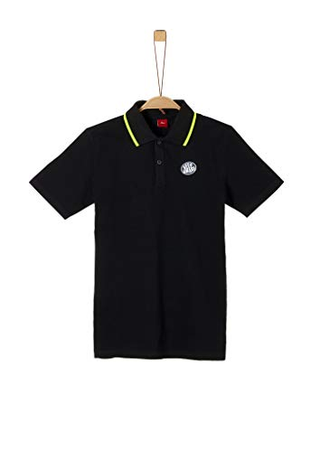 s.Oliver Junior Jungen T-Shirt Kurzarm Polohemd, 9999 Black, L/REG