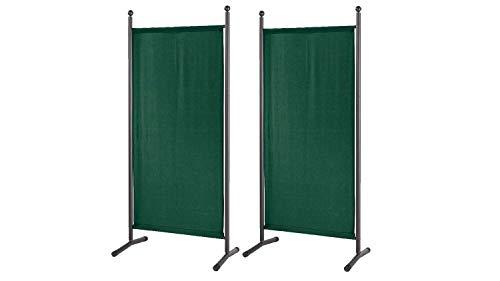 GRASEKAMP Qualität seit 1972 2 Stück Stellwand 78x178cm Grün Paravent Raumteiler Trennwand Sichtschutz