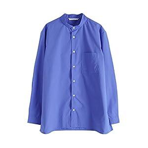 [マニュアルアルファベット] MANUAL ALPHABET ポリエステルコットン バンドカラー シャツ メンズ 2021春夏 MA-S-547 2(M) / blue