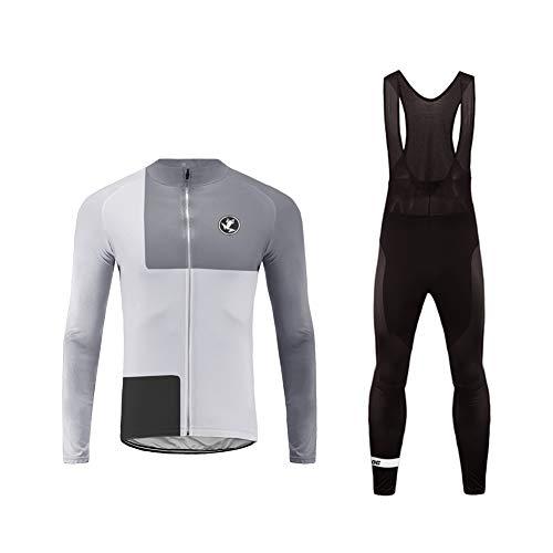 Uglyfrog Radtrikot Herren Fahrradbekleidung Set Outdoor Sports Langarm Radkleidung + Radfahren Latzhose Shorts im Herbst