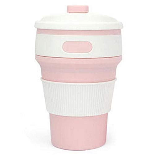 GZSC Reutilizable Taza de café Taza de Silicona Plegable en Caliente Taza de café Plegable de Silicona portátil Taza de café Plegable Taza de sílice Plegable multifunción Viaje