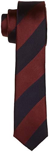 Seidensticker Herren Krawatte Seidenkrawatte, Dunkelrot/Blau 47, One Size (Herstellergröße: 5 cm breit)