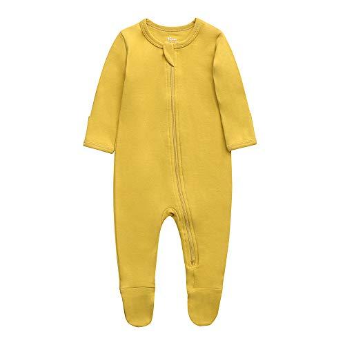 Product Image of the O2Baby Baby Boys Girls Organic Cotton Zip Front Sleeper Pajamas, Footed Sleep 'n...