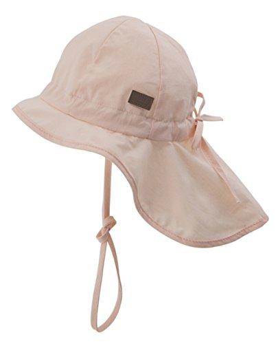 Melton Baby-Mädchen Sommerhut mit Schirm und Nackenschutz UV 30+, Uni Kappe, Rosa (Chintz Rose 501), 47