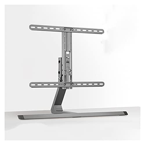 Soporte de TV Universal TELEVISOR Desktop de base de altura ajustable TELEVISOR Stand 37 '-75' Metal TELEVISOR Soporte giratorio, sostiene hasta 88 libras, máx. VESA 60 0x400mm Soporte inclinable para