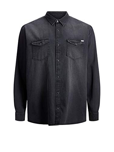 JACK & JONES Male Plus Size Hemd Westernstyle 3XLBlack Denim