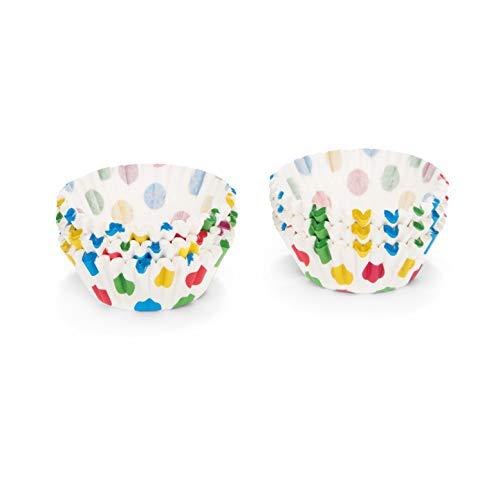 patisse - 200 pirottini per Muffin, Misura Mini, Colore: Bianco a Pois Colorati